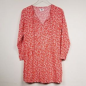 Old Navy//Orange and white floral dress size SM